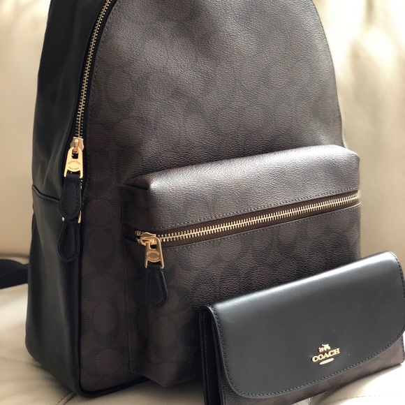 ae43a00a6 Coach Bags | Charlie Large Backpack In Signature Wallet | Poshmark